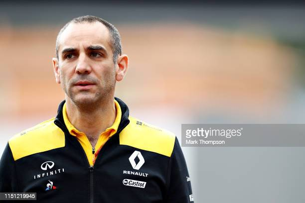 Renault Sport F1 Managing Director Cyril Abiteboul walks in the Pitlane during practice for the F1 Grand Prix of Monaco at Circuit de Monaco on May...