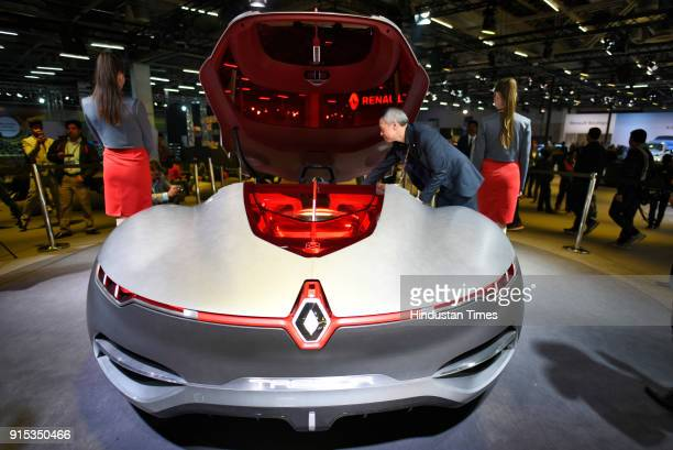 Renault Trezor displayed at the Auto Expo 2018 Motor Show at the India Expo Mart on February 7 2018 in Greater Noida India The Expo will include two...