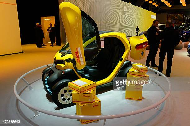 renault twizy dhl - renault stock pictures, royalty-free photos & images