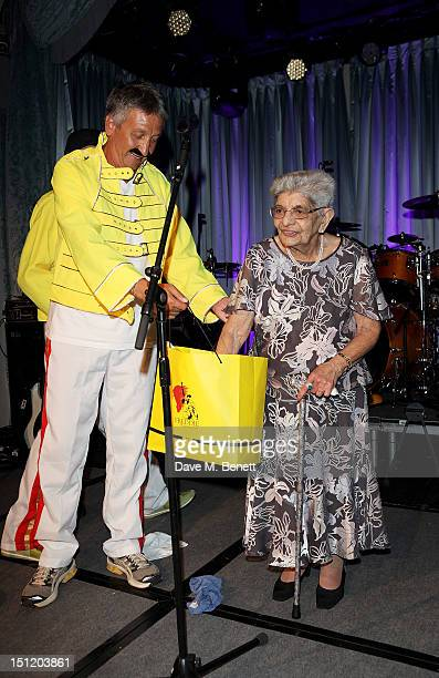 Renault UK's managing director Thierry Sybord and Freddie Mercury's mother Jer Bulsara attend the second annual Freddie For A Day event in memory of...