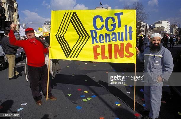 Renault Workers Demonstration On March 21st, 1995