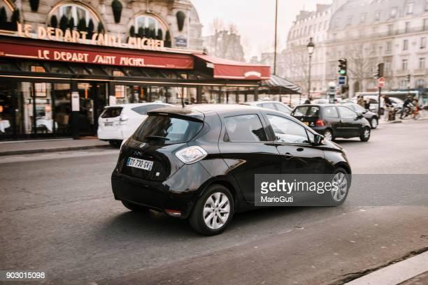 Renault Zoe electric car in a streetof Paris