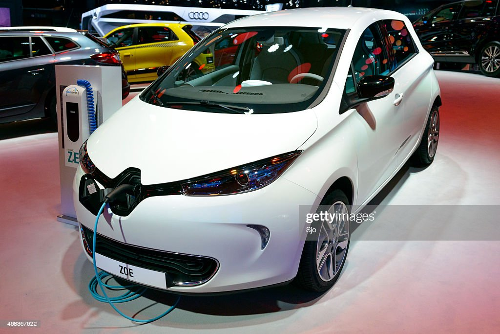 Renault Zoe electric compact car : Stock Photo