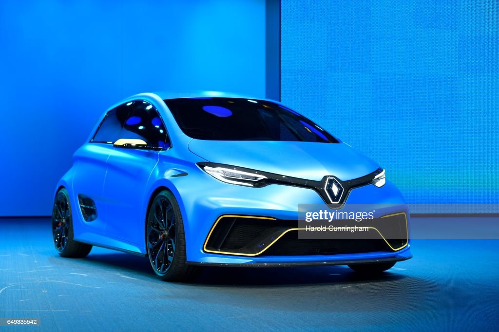 A Renault Zoe e-sport is shown during the 87th Geneva International Motor Show on March 7, 2017 in Geneva, Switzerland. The International Motor Show showcase novelties of the car industry.