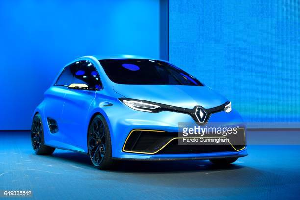 Renault Zoe esport is shown during the 87th Geneva International Motor Show on March 7 2017 in Geneva Switzerland The International Motor Show...
