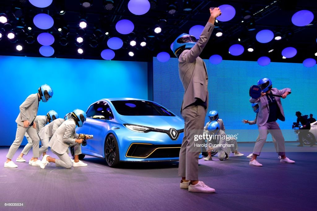 A Renault Zoe e-sport is shown during the Renault press conference as part of the 87th Geneva International Motor Show on March 7, 2017 in Geneva, Switzerland. The International Motor Show showcase novelties of the car industry.