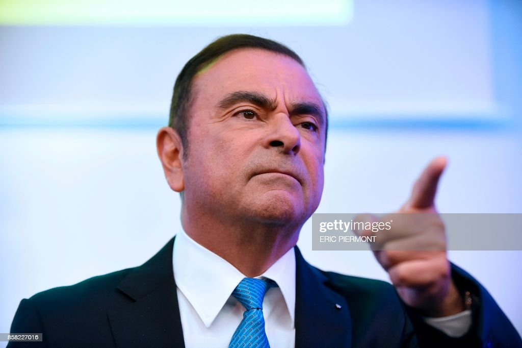Carlos Ghosn, Renault CEO Gives A Press Conference In Paris