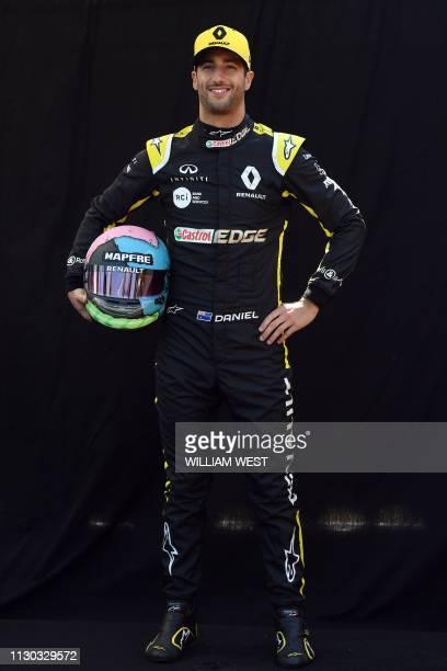 Renault's Australian driver Daniel Ricciardo poses for a photo in Melbourne on March 14 ahead of the Formula One Australian Grand Prix