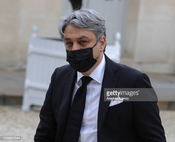 Renault's chief executive Luca de Meo arrives for a state dinner with the French President Emmanuel Macron and the Italian President Sergio...