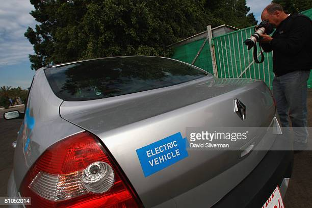 Renault's electric car built on the Megane model is photographed as it makes its debut to the media on May 11 2008 in Tel Aviv Israel RenaultNissan...
