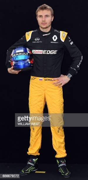 Renault's Russian reserve driver Sergey Sirotkin poses for a photo in Melbourne on March 23 ahead of the Formula One Australian Grand Prix / AFP...