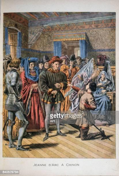 Rencontre entre Charles VII et Jeanne d'Arc à Chinon le 25 février 1429 France