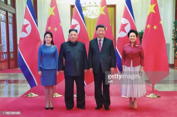 Rencontre entre Kim Jongun et Xi Jinping et leurs épouses à Pyongyang en janvier 2019 Corée du Nord