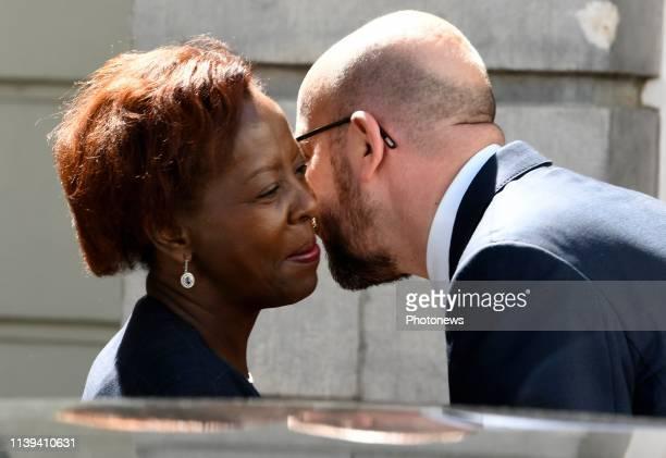 Rencontre entre le Premier ministre Charles Michel et la Secrétaire générale de l'Organisation Internationale de la Francophonie Louise Mushikiwabo...
