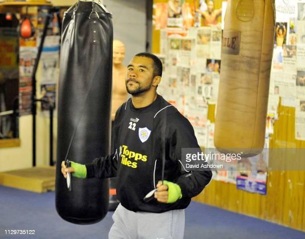 Rendall Munroe i English super bantamweight boxer 11th November 2009.