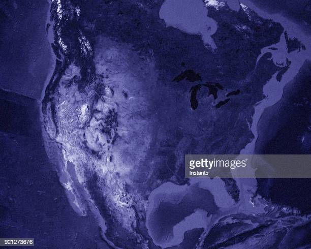 3d render of planet earth with north america in main focus. - physical geography stock pictures, royalty-free photos & images