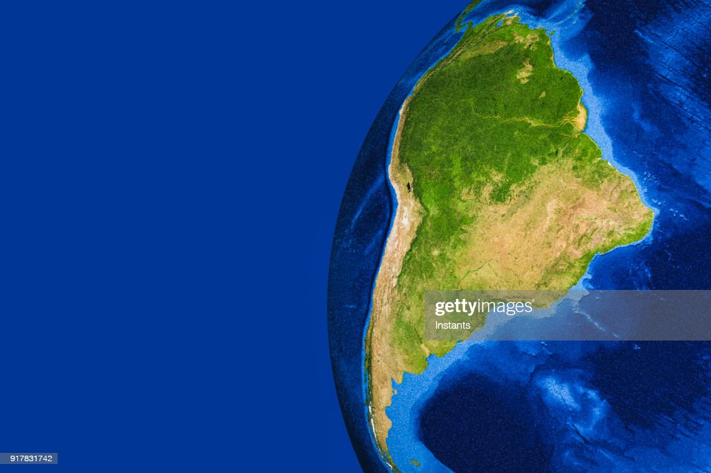 3D render of planet Earth with South America in main focus. : Stock Photo