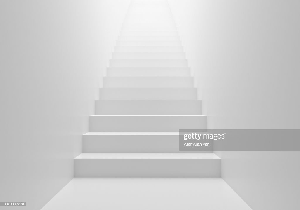 3D render stairs background : Stock Photo