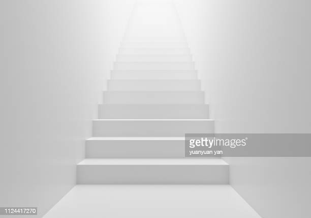 3d render stairs background - escaleras fotografías e imágenes de stock