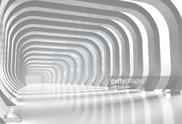 3d render tunnel - 3d background fotografías e imágenes de stock