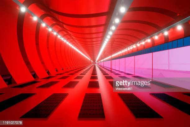 3d rendered illustration, visualisation of a science fiction spaceship, gangway - eternity stock pictures, royalty-free photos & images