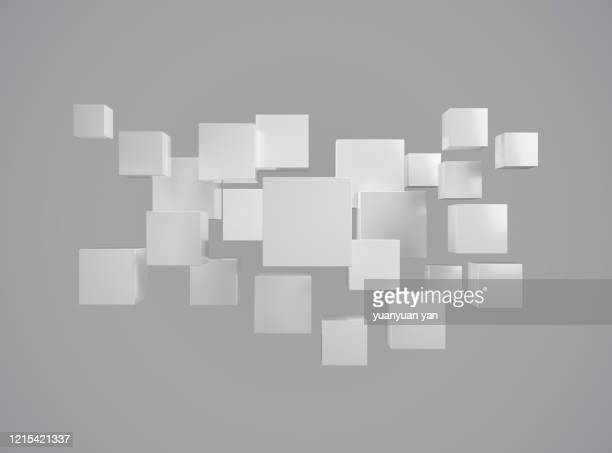3d rendering abstract background - square stock pictures, royalty-free photos & images