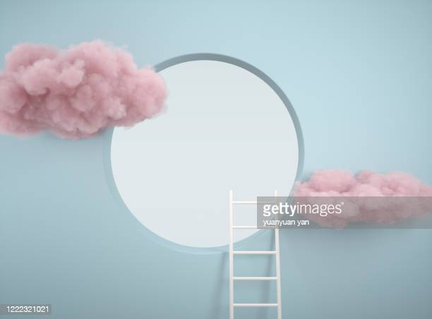 3d rendering abstract background - ladder of success stock pictures, royalty-free photos & images