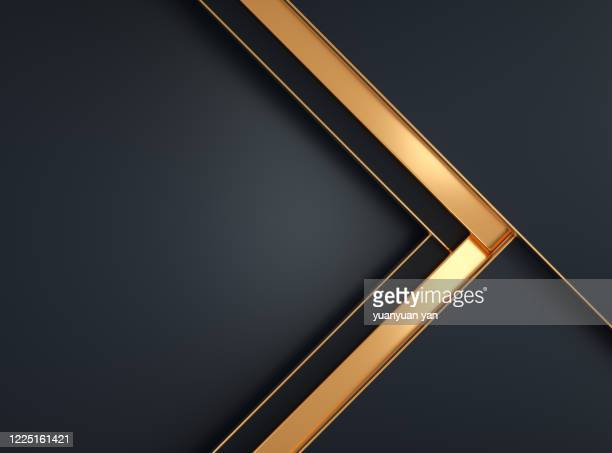3d rendering abstract background - gold coloured stock pictures, royalty-free photos & images