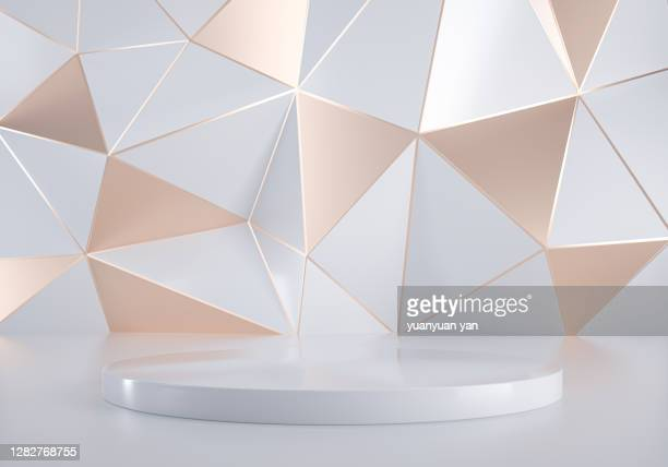 3d rendering abstract background - triangle shape stock pictures, royalty-free photos & images
