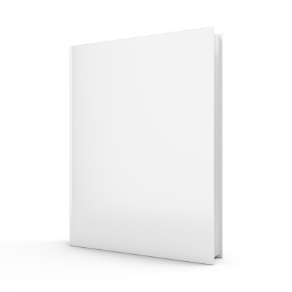 3D rendering blank book on white background 949082660