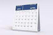 3D Rendering - Calendar for April 2021