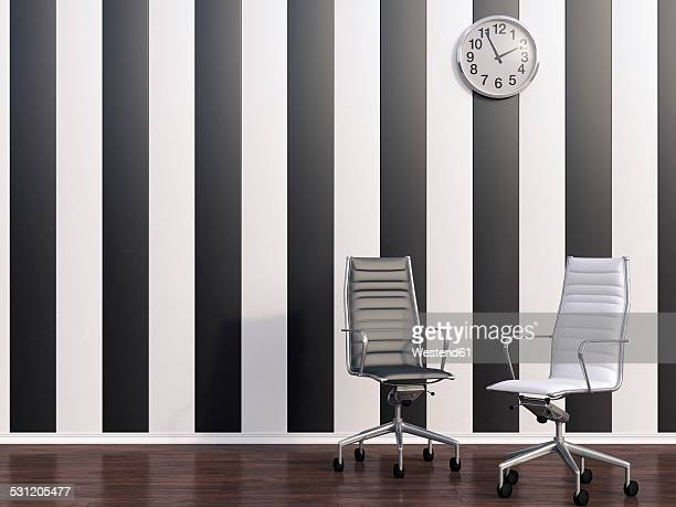 3D rendering, Empty office chairs