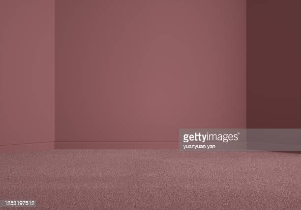 3d rendering exhibition background - カーペット ストックフォトと画像