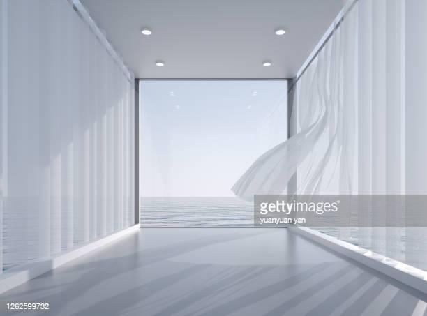 3d rendering exhibition background - 風 ストックフォトと画像