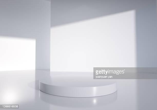3d rendering exhibition background - wohnraum stock-fotos und bilder