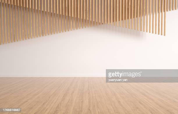 3d rendering exhibition background - wood material stock pictures, royalty-free photos & images