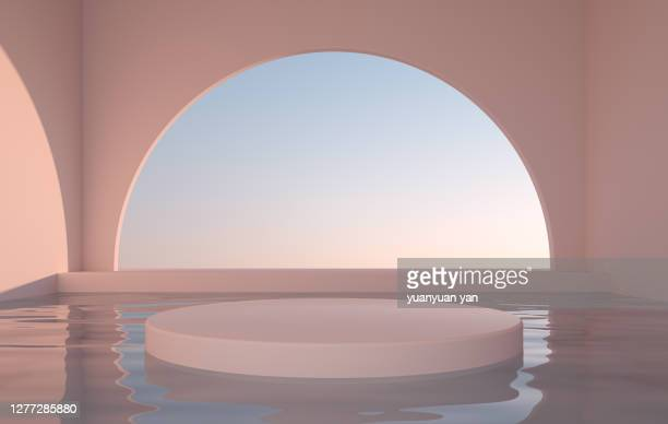 3d rendering exhibition background - arch stock pictures, royalty-free photos & images