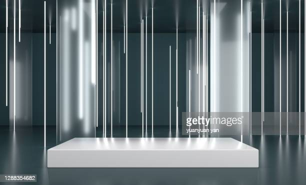 3d rendering exhibition background - stage performance space stock pictures, royalty-free photos & images