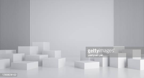 3d rendering exhibition background - carré composition photos et images de collection
