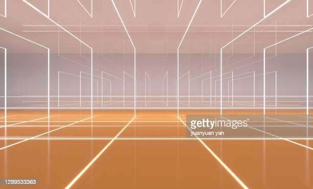 3d rendering  exhibition background - lineart stock-fotos und bilder