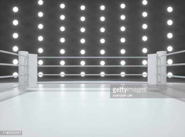 3d rendering fighting ring - boxing ring stock pictures, royalty-free photos & images