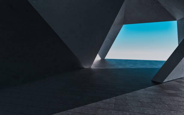 3D rendering futuristic building background