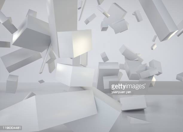 3d rendering illustration abstract background - 減少 ストックフォトと画像