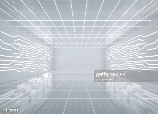 3d rendering illustration futuristic indoor design background - science and technology stock pictures, royalty-free photos & images