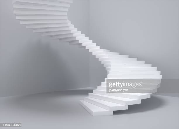 3d rendering illustration staircase - concept stock pictures, royalty-free photos & images