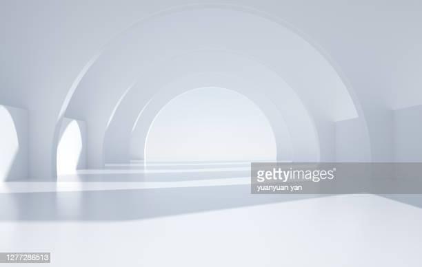 3d rendering indoor background - 建築上の特徴 アーチ ストックフォトと画像