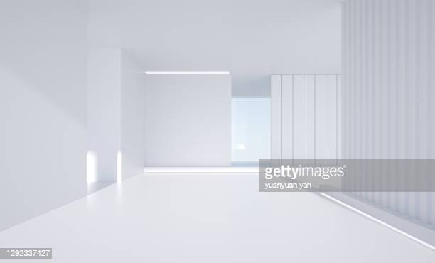 3d rendering interior background - exhibition stock pictures, royalty-free photos & images