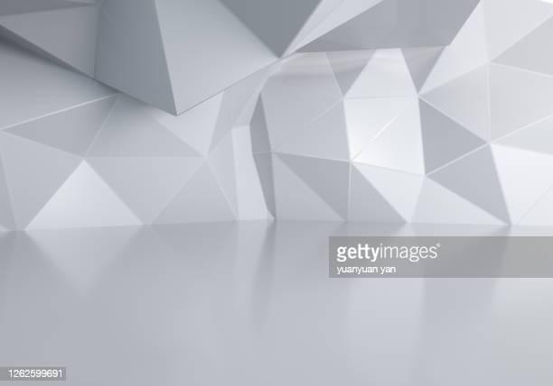 3d rendering low poly abstract background - geografische lage stock-fotos und bilder