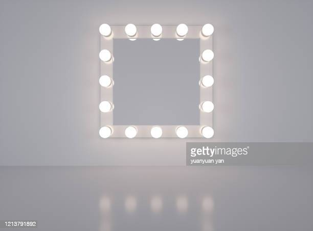 3d rendering make-up mirror - mirror stock pictures, royalty-free photos & images