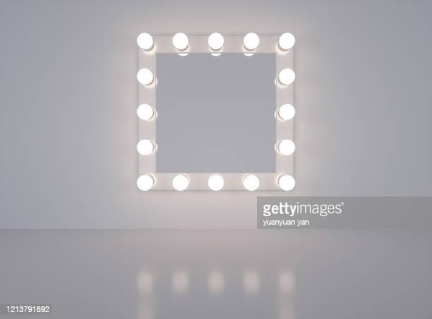 3d rendering make-up mirror - 舞台化粧 ストックフォトと画像